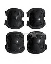 Комплект налокотники наколенники ВК-4703 Black