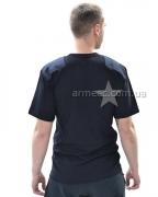 Военная футболка с погоном Black B1