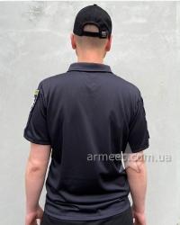 Футболка Полиция поло черное Coolpass