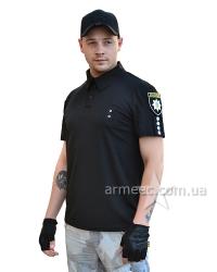 Футболка поло Police Coolmax Black