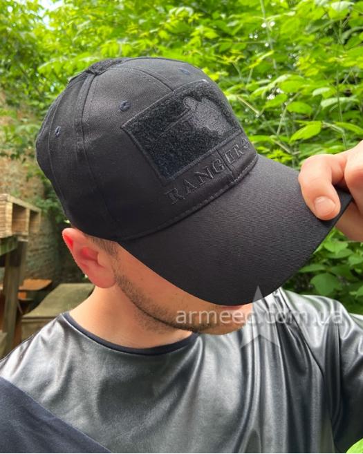 Бейсболка тактическая Ranger Black