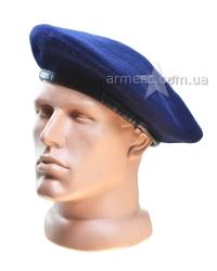 Берет Бесшовный Синий-1