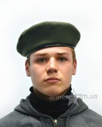 Темно-зелёный берет армейский