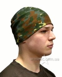 Трикотажная шапка демисезонная Flecktarn