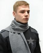 Шарф мужской серый А1