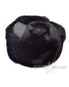 Шапка-ушанка верх кожзам Black