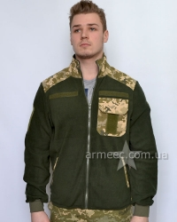Тактическая флисовая кофта / куртка ЗСУ пиксель A2