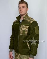 Тактическая флисовая кофта / куртка ЗСУ пиксель A3