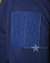 Флисовая тактическая кофта Dark Blue-1