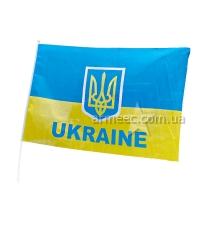Флаг Украины атлас с тризубом