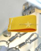 Лычка-резинка желтая широкая
