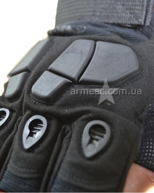 Перчатки SILVER KNIGHT беспалые Black