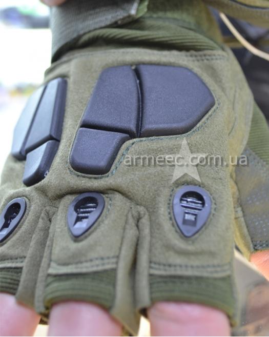 Перчатки SILVER KNIGHT беспалые Olive-1