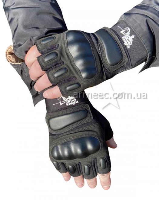 Перчатки SILVER KNIGHT беспалые Black-1