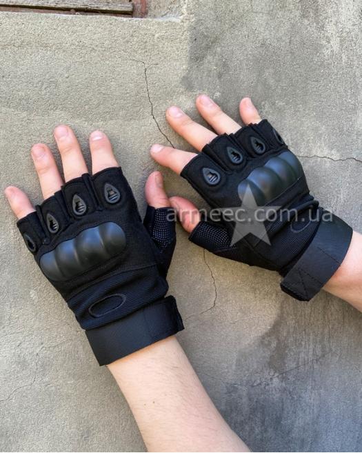Перчатки беспалые Oakley Black B1