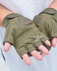 Перчатки Silver Knight беспалые Olive