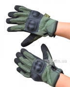 Перчатки Mechanix с косточками Olive-1