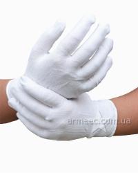 Перчатки х.б. белые с точкой