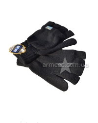 Перчатки вязанные с открытыми пальцами