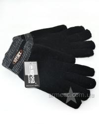 Перчатки утеплённые вязаные Black A2