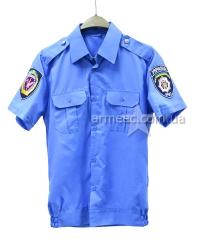 Рубашка МВС с коротким рукавом голубая