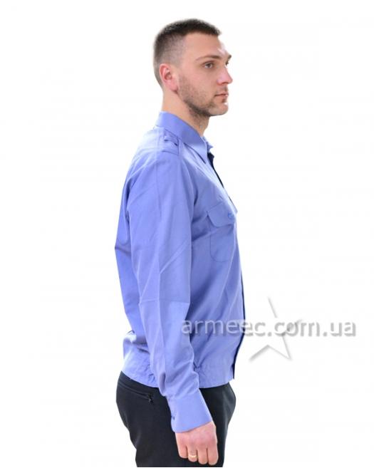 Рубашка с длинным рукавом голубая