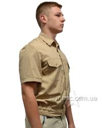 Рубашка с коротким рукавом беж А1