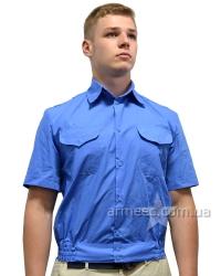 Рубашка с коротким рукавом голубая А1