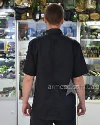 Рубашка с коротким рукавом черная А2