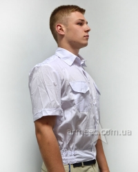 Рубашка с коротким рукавом белая А1