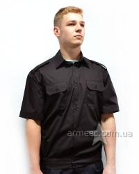 Рубашка с коротким рукавом черная А1