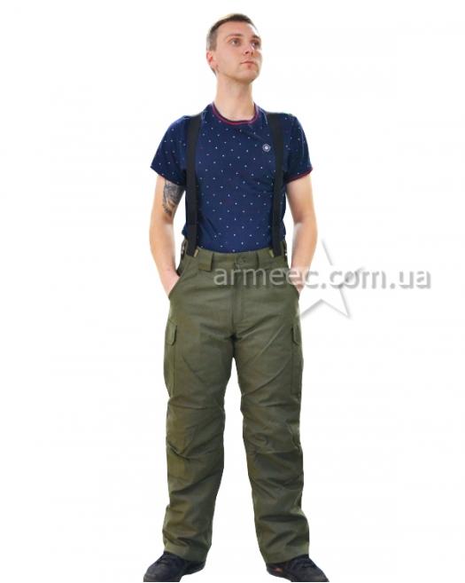Теплые штаны НГУ олива-1