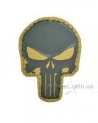 Шеврон череп желтый А1