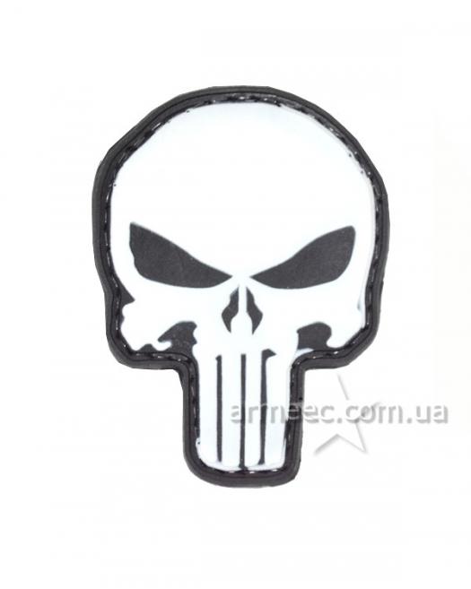 Шеврон череп white А2