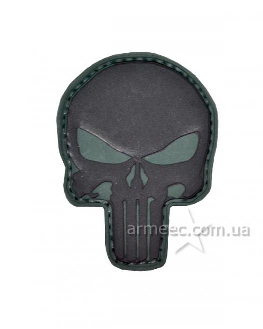 Шеврон череп black А5