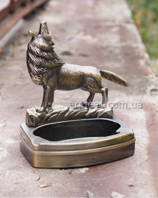 """Подарочная пепельница """"Волк"""""""