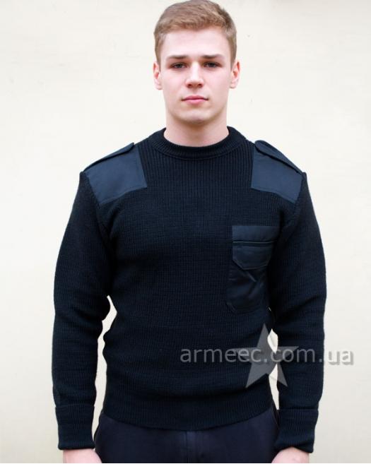 Свитер военный форменный Черный Полиция A1