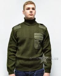 Армейский свитер с высоким горлом Олива А3