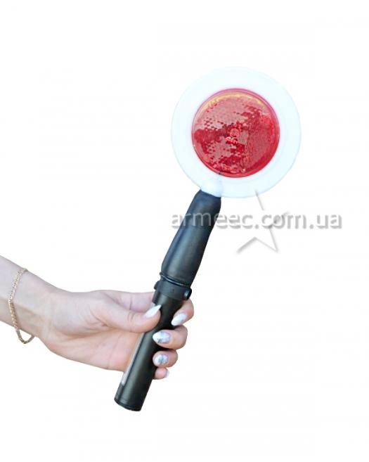 Полицейский жезл-отмашка с фонариком K1