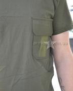 Военная футболка с погоном Olive O1