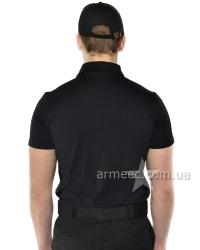 Футболка поло полиция Black A3