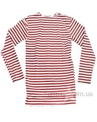 Тельняшка красная, футболка в полоску