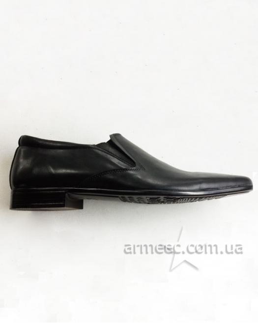 Армейские туфли черные кожаные