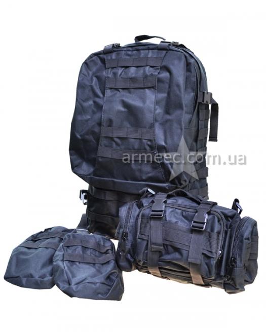 Рюкзак со съемными поясными сумками 60л
