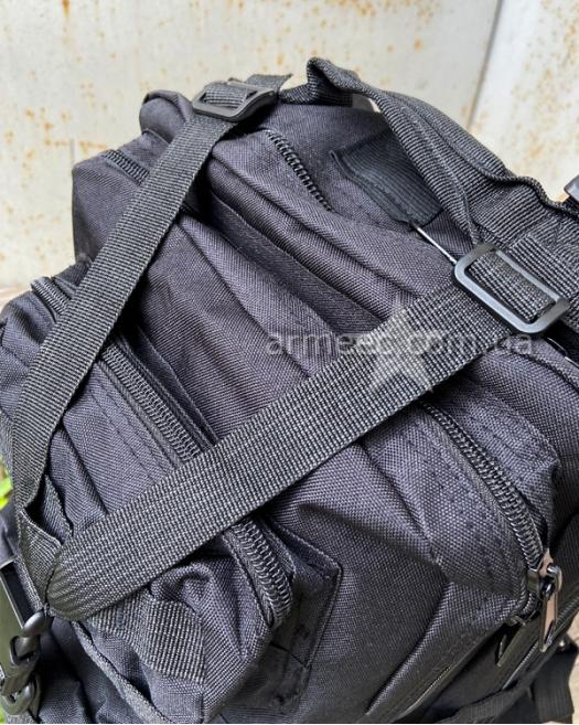 Рюкзак тактический черного цвета 30 л