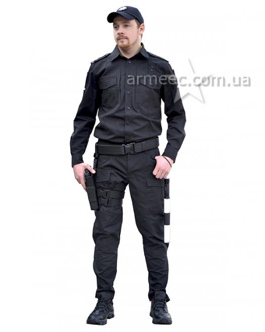 Полицейская форма Украины Black A2