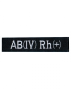 Нашивка Полиция группа крови AB (IV) RH (+) М2