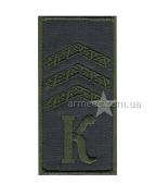 Погон курсант-сержант K.O3