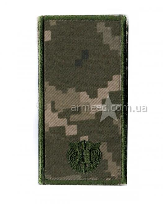 Погон ЗСУ курсант на липучке А1