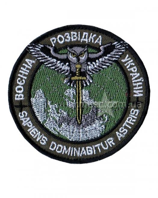 Шеврон Военная Разведка Украины олива i12